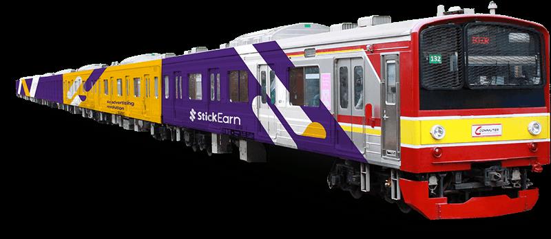 banner Train Advertising by StickEarn