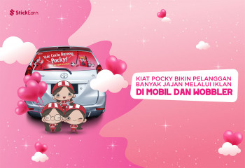 Manisnya Campaign Pocky yang #TebarPesona dengan Mobil, Wobbler dan StickTablet