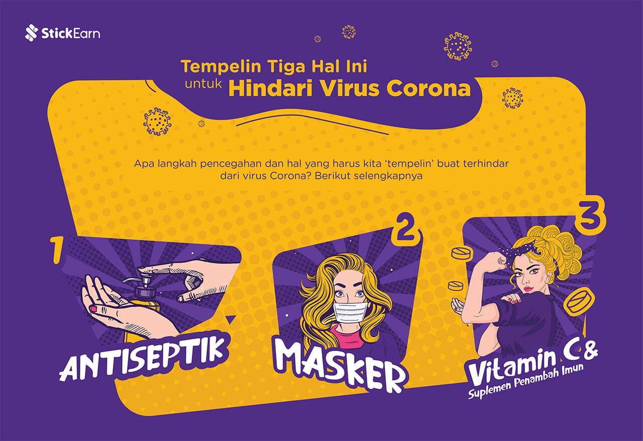 Tempelin Tiga Hal Ini untuk Hindari Virus Corona