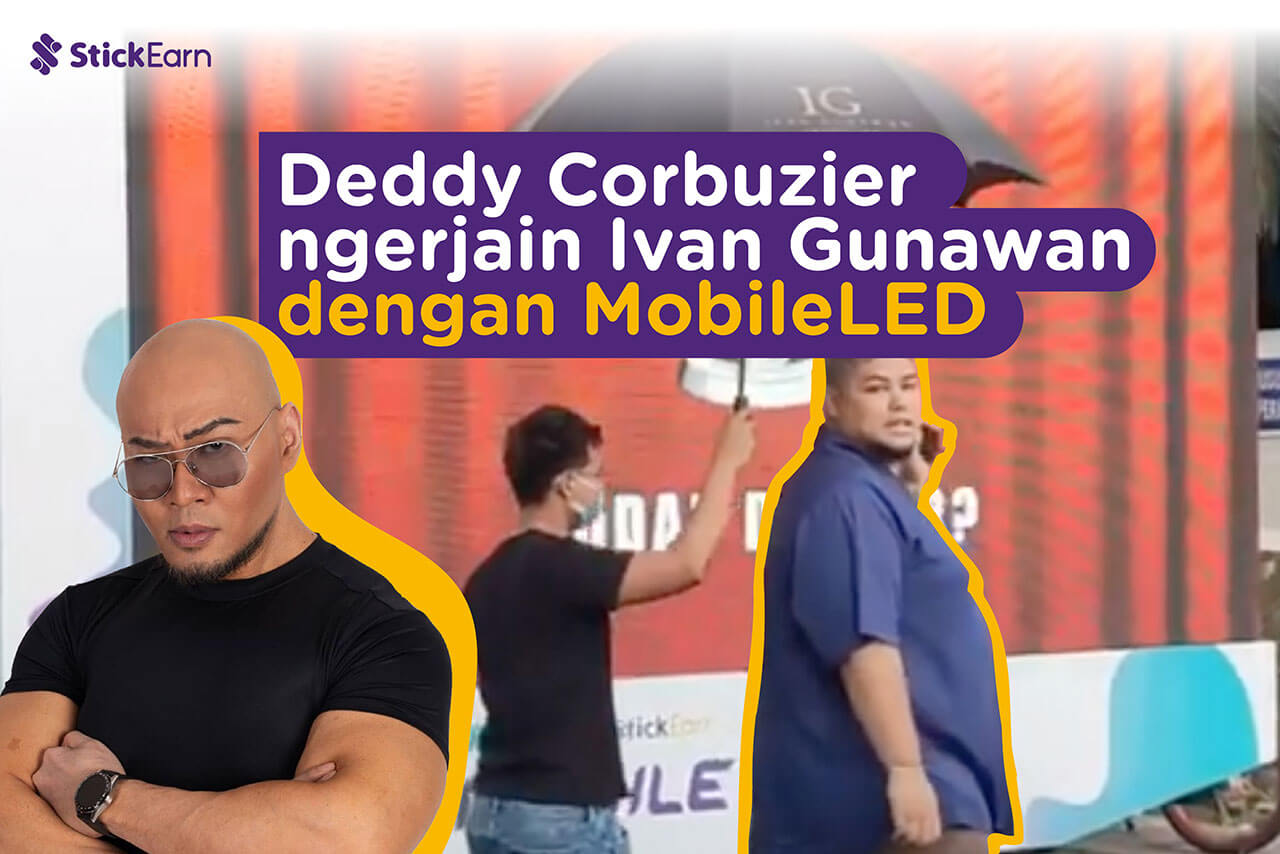 Deddy Corbuzier ngerjain Ivan Gunawan dengan MobileLED