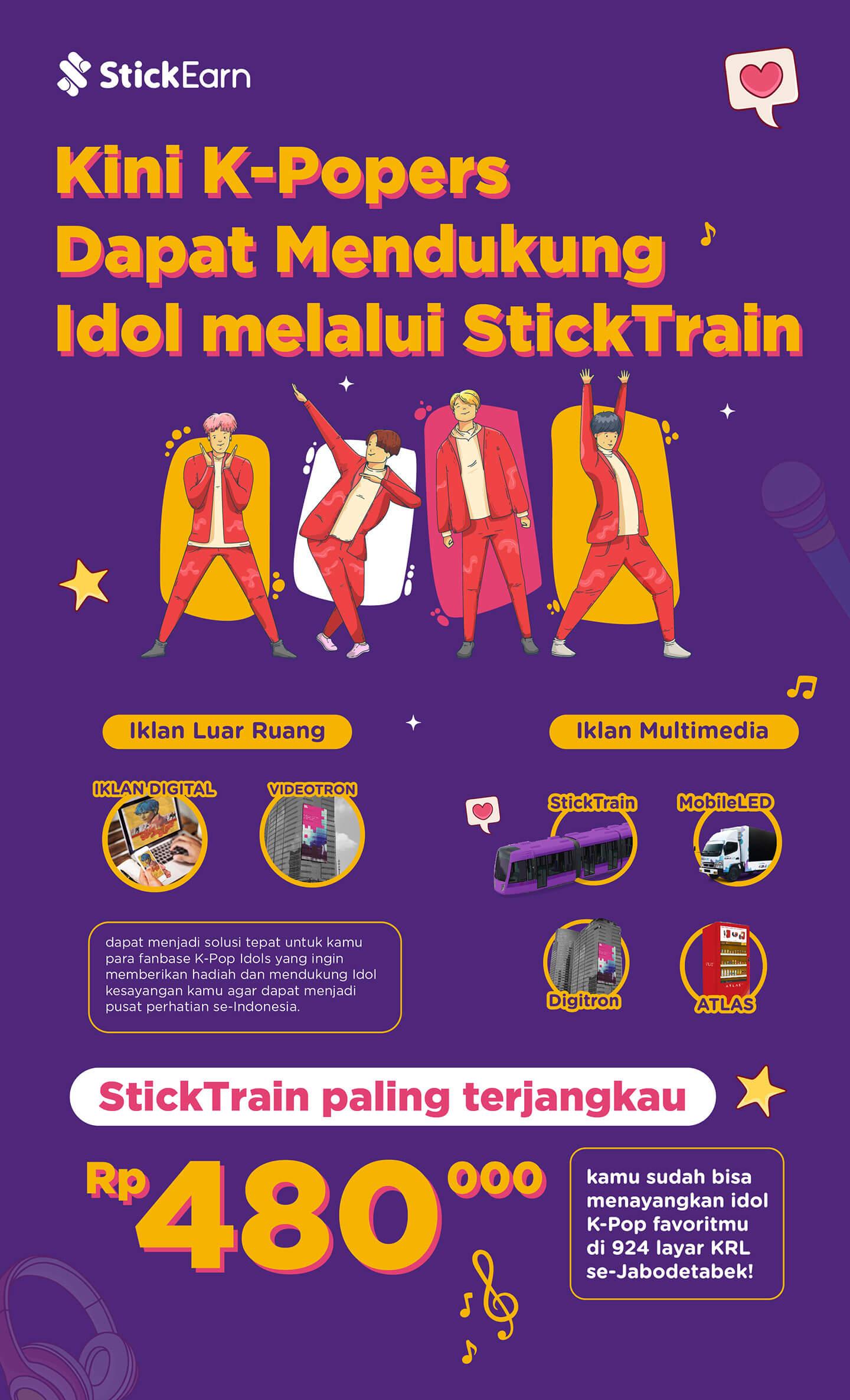 Kini K-popers Dapat Mendukung Idol melalui StickTrain